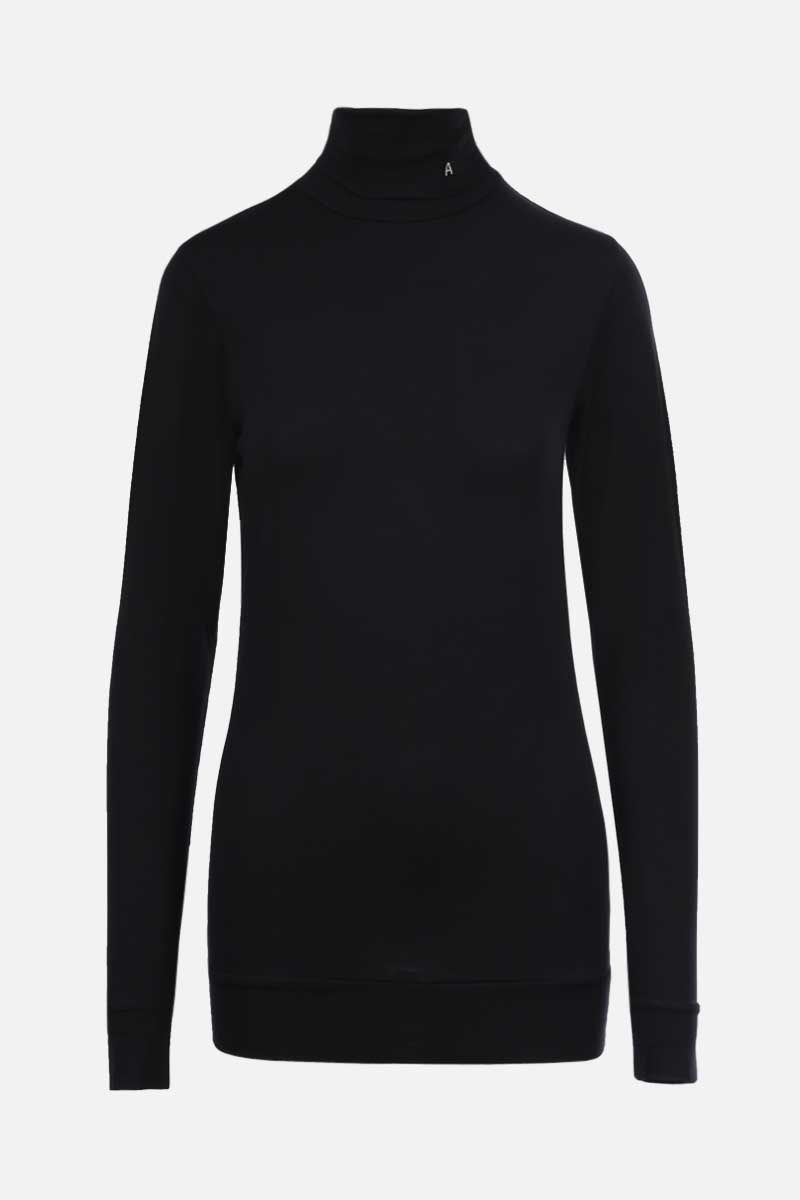 AMBUSH: jersey long-sleeved t-shirt Color Black_1