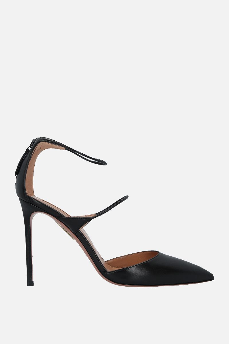 AQUAZZURA: Minute soft nappa pumps Color Black_1