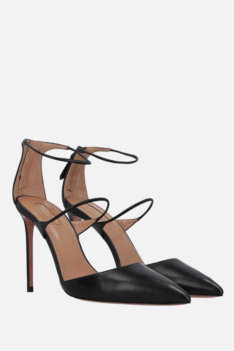 AQUAZZURA: Minute soft nappa pumps Color Black_2