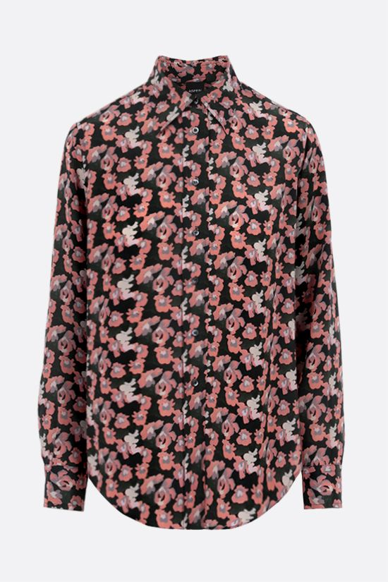 ASPESI: floral print silk shirt Color Pink_1