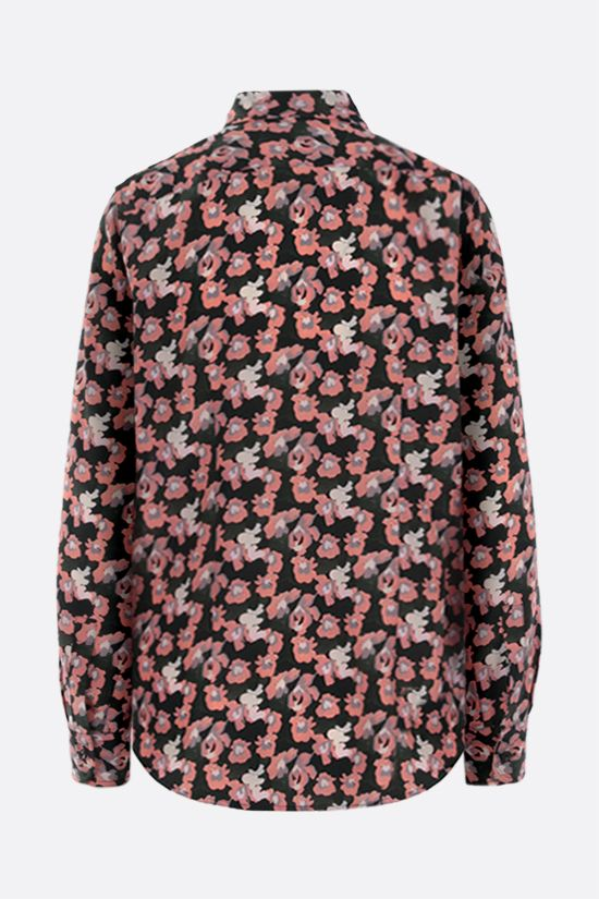 ASPESI: floral print silk shirt Color Pink_2