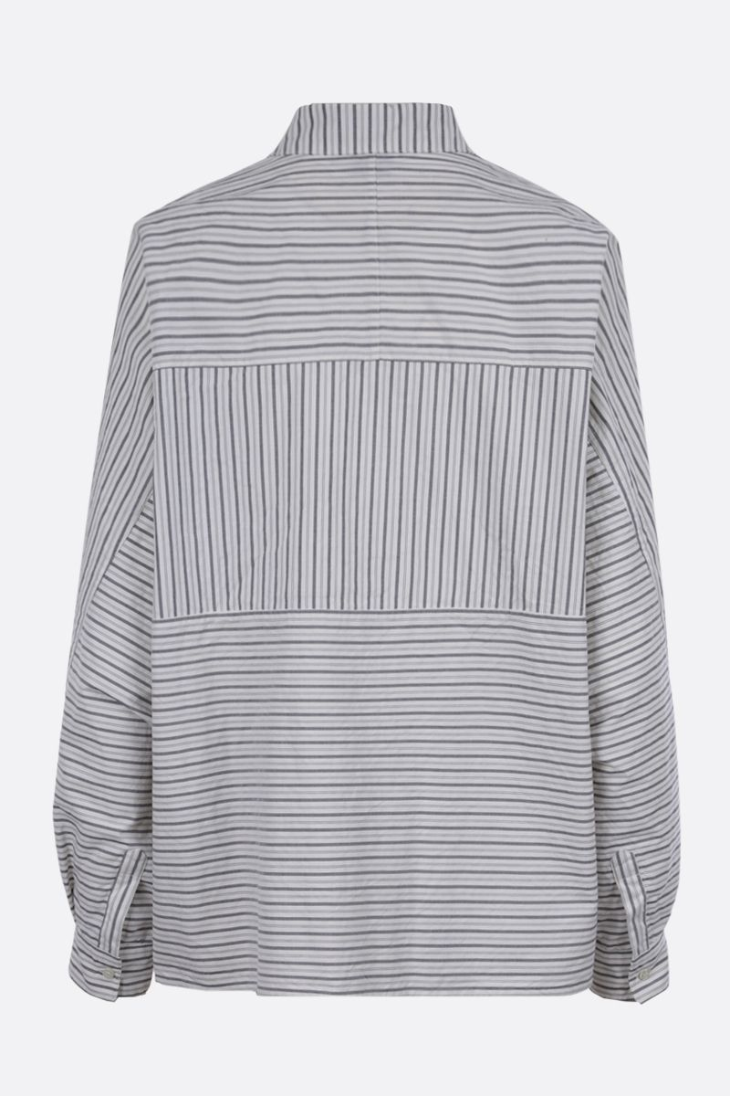 ASPESI: striped cotton shirt Color Grey_2