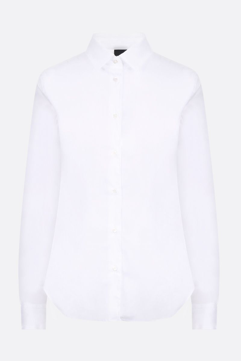ASPESI: stretch cotton slim shirt Color White_1