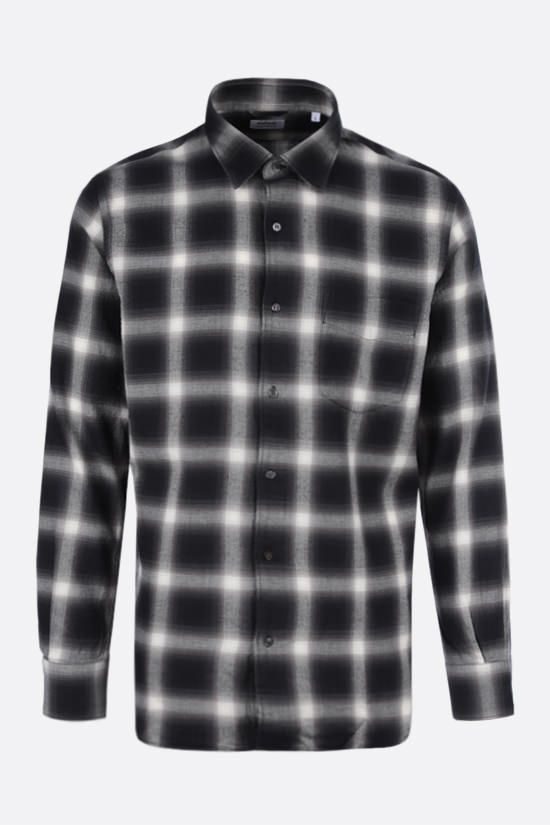 ASPESI: Ridotta check flannel shirt Color Black_1