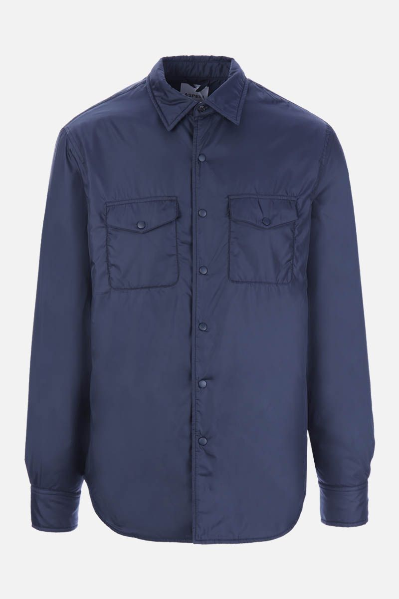 ASPESI: Più technical fabric padded shirt Color Blue_1