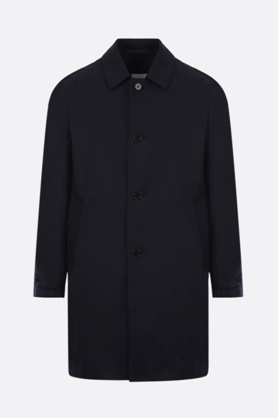 ASPESI: Perfetto single-breasted wool coat Color Blue_1