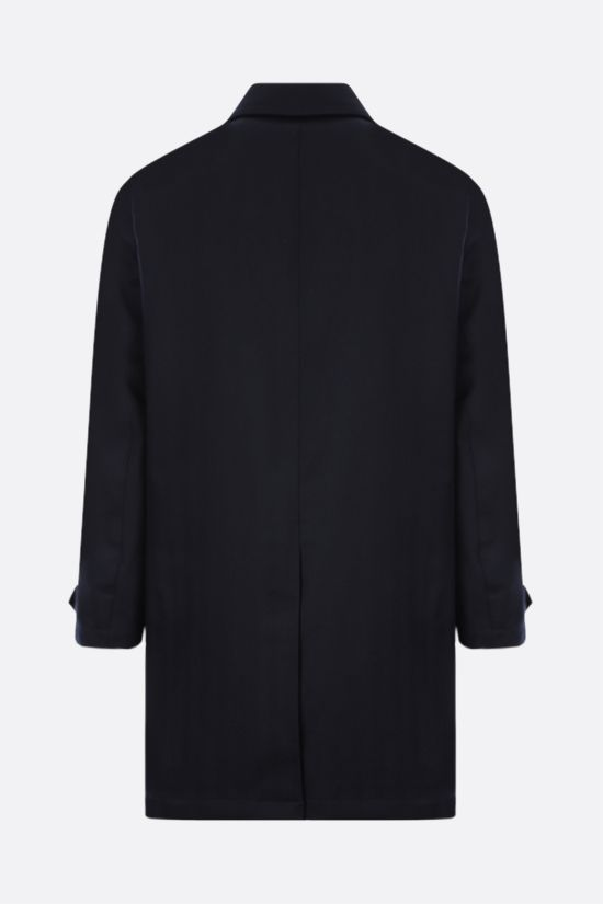 ASPESI: Perfetto single-breasted wool coat Color Blue_2
