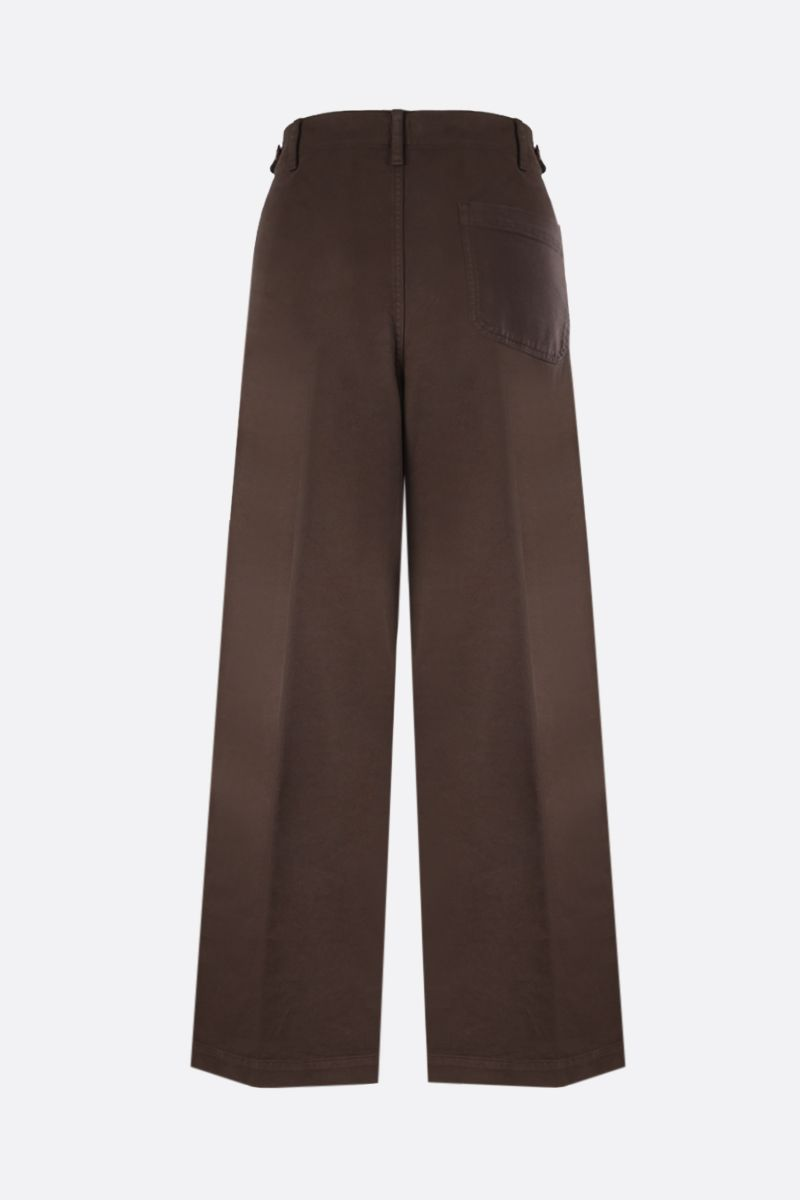 ASPESI: stretch cotton wide-leg pants Color Brown_2