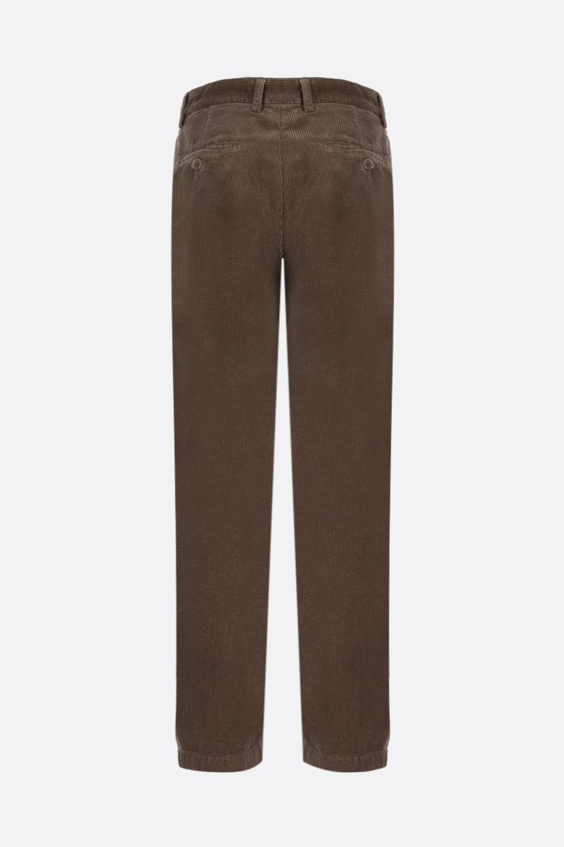 ASPESI: corduroy cropped pants Color Brown_2