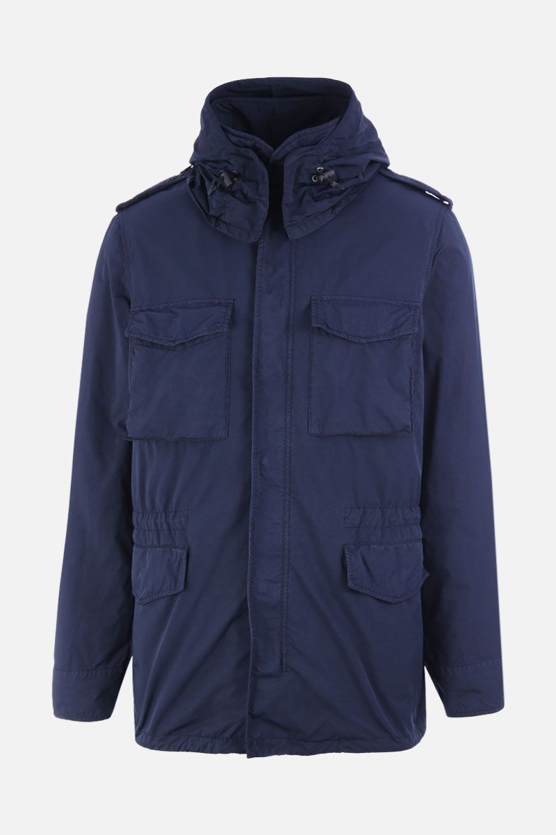 ASPESI: New Camp technical fabric field jacket Color Blue_2