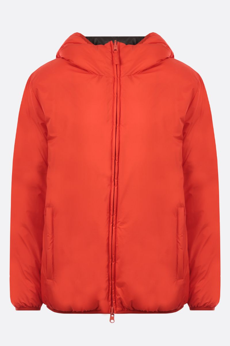 ASPESI: Cupcake nylon reversible down jacket Color Orange_1