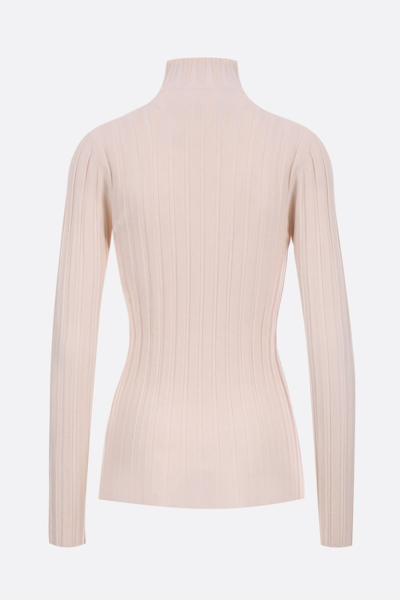 ASPESI: ribbed stretch wool turtleneck Color Neutral_2