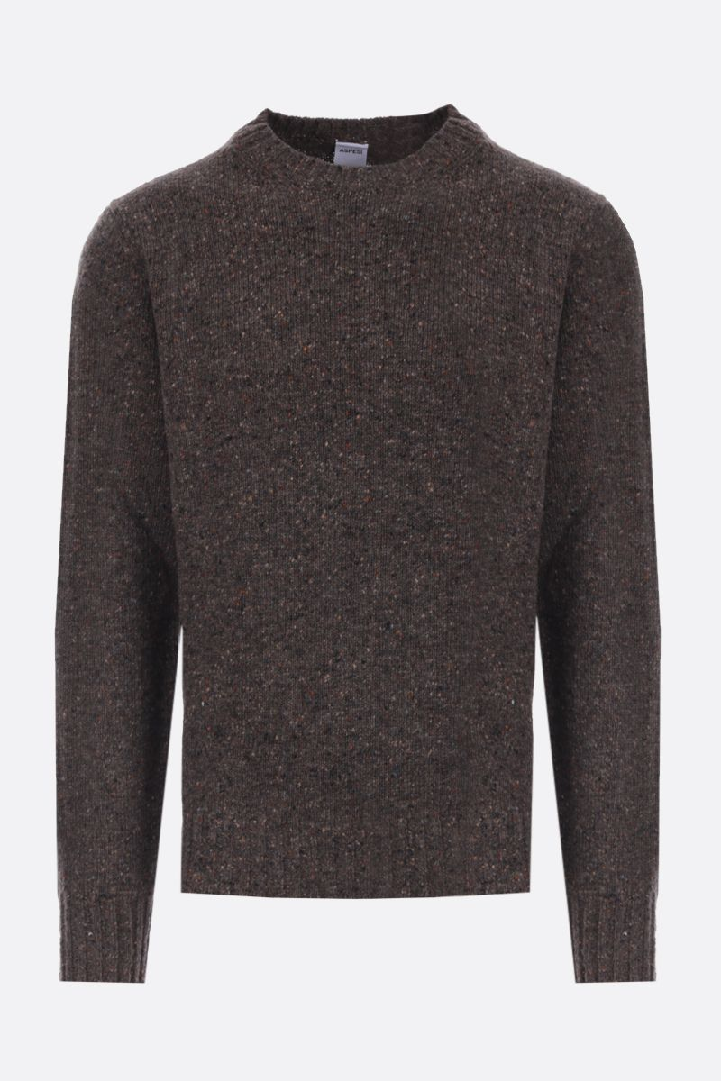 ASPESI: Donegal wool pullover Color Green_1