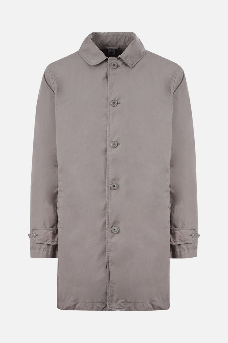 ASPESI: Vodka technical fabric single-breasted overcoat Color Grey_1