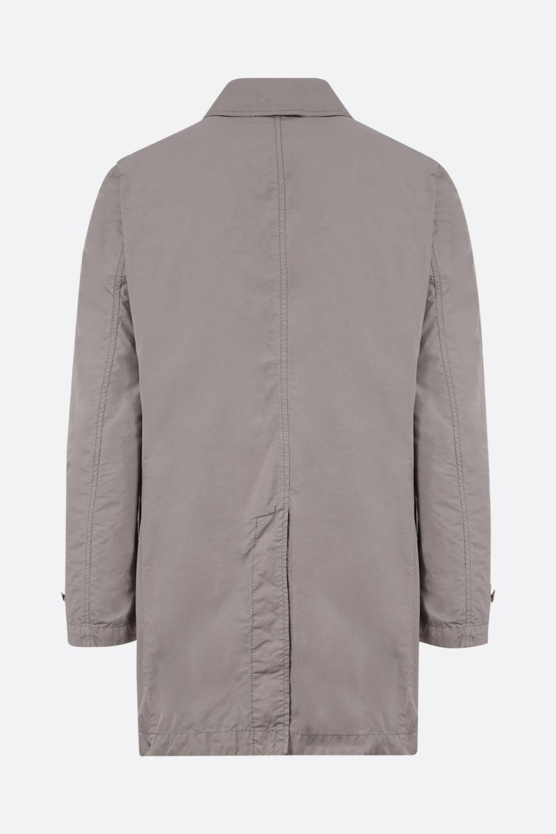 ASPESI: Vodka technical fabric single-breasted overcoat Color Grey_2