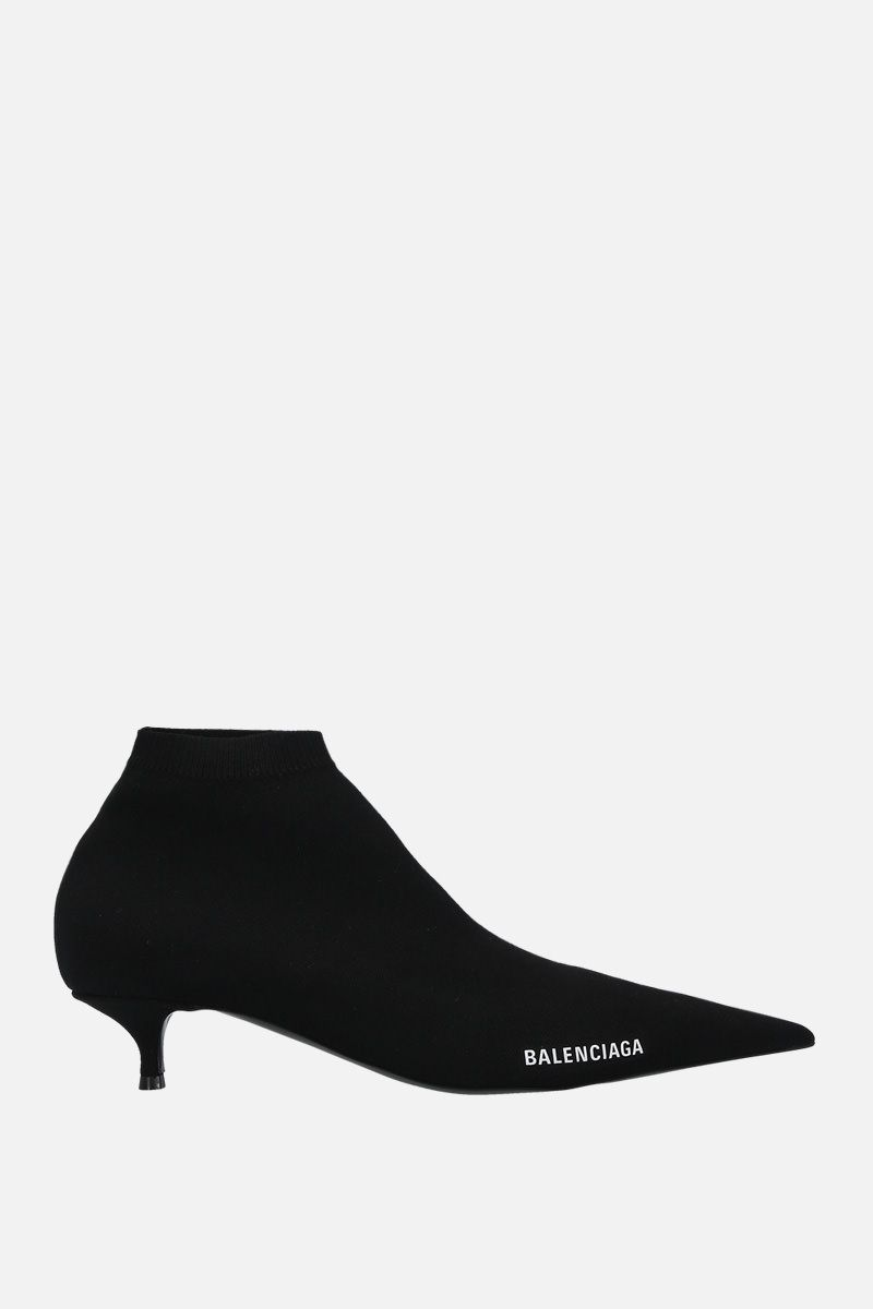 BALENCIAGA: Knife knit booties Color Black_1