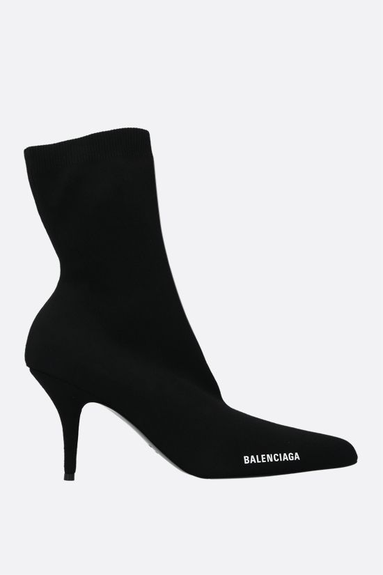 BALENCIAGA: Knife stretch knit booties Color Black_1
