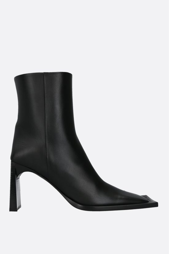 BALENCIAGA: smooth leather ankle boots Color Black_1