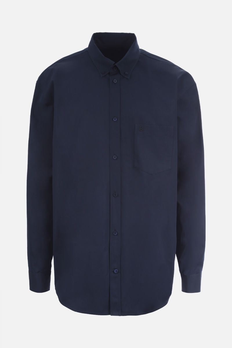 BALENCIAGA: Symbolic cotton shirt Color Blue_1