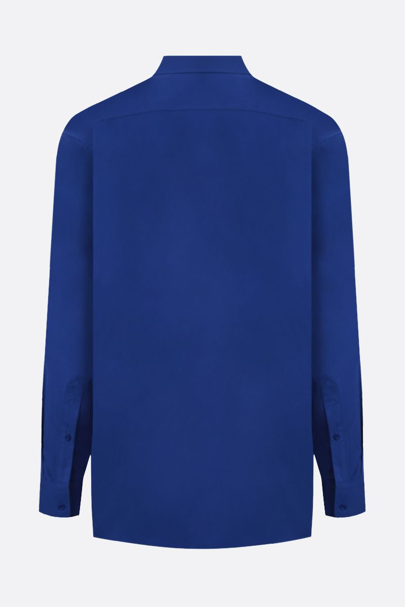 BALENCIAGA: Balenciaga embroidered cotton shirt Color Blue_2