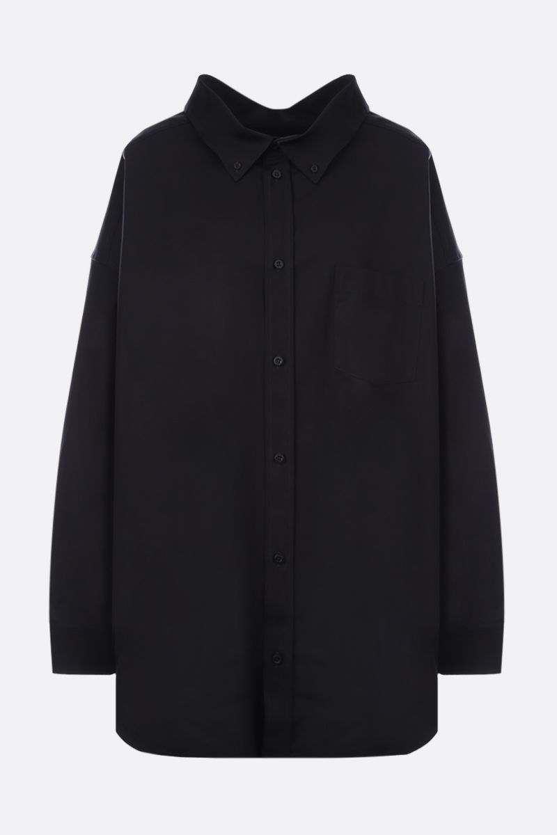 BALENCIAGA: Cocoon Swing cotton oversized shirt Color Black_1