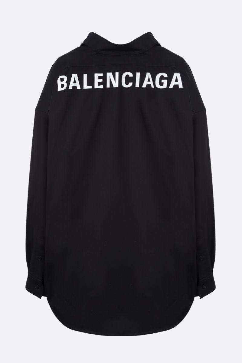 BALENCIAGA: Cocoon Swing cotton oversized shirt Color Black_2