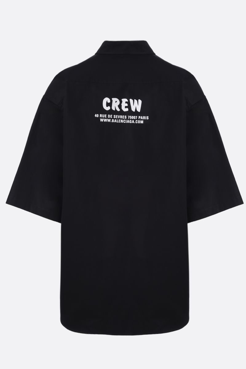 BALENCIAGA: Crew cotton oversize short-sleeved shirt Color Black_2