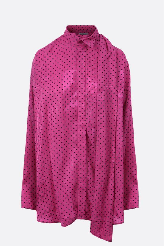 BALENCIAGA: oversize jacquard tuxedo shirt Color Purple_1