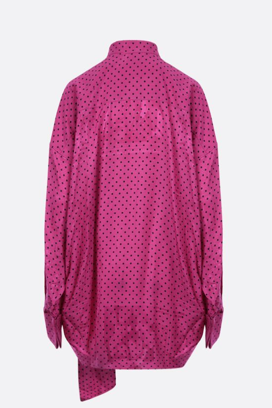 BALENCIAGA: oversize jacquard tuxedo shirt Color Purple_2