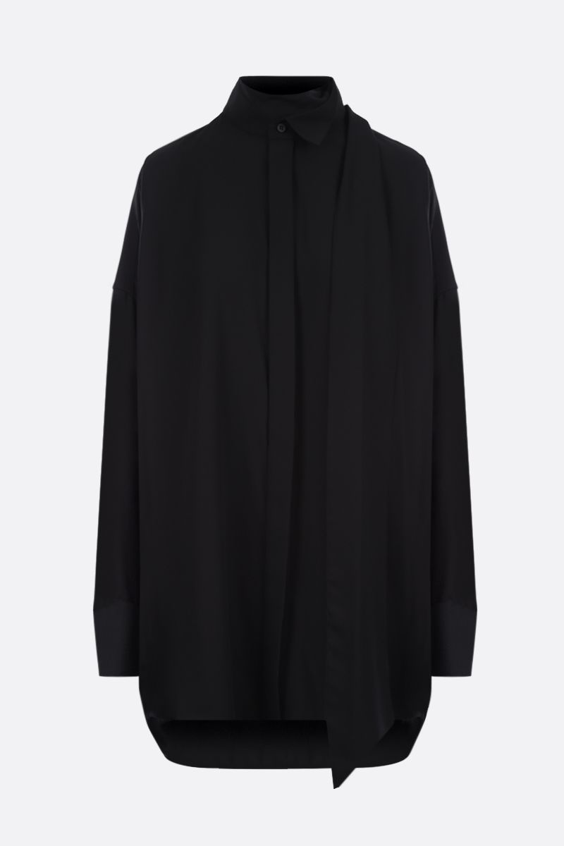 BALENCIAGA: oversize crepe shirt Color Black_1
