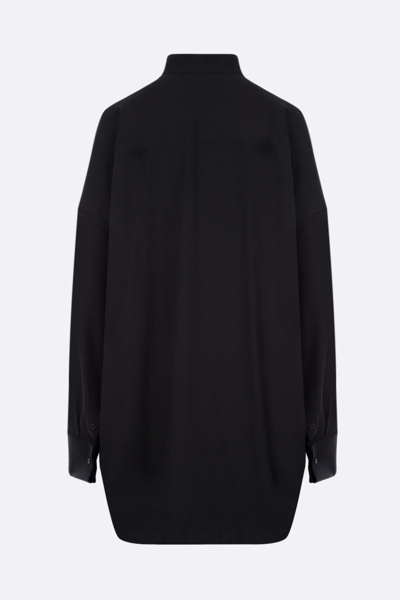 BALENCIAGA: oversize crepe shirt Color Black_2