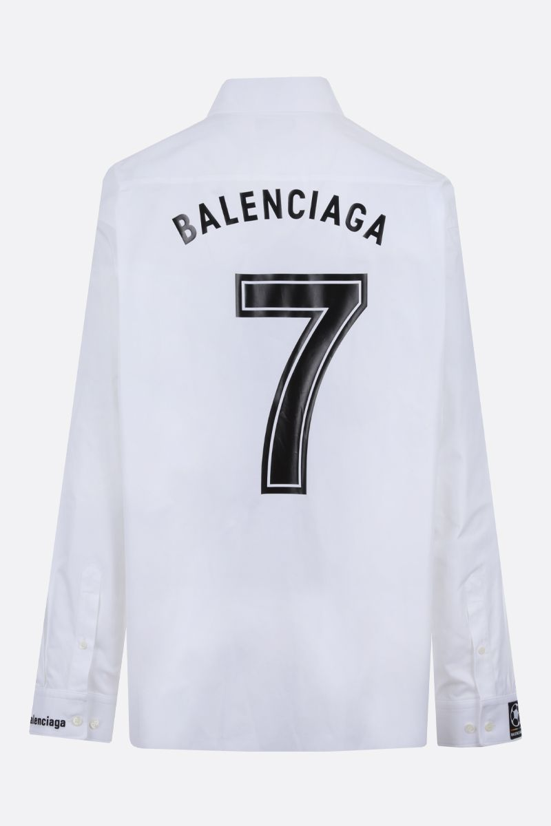 BALENCIAGA: Balenciaga 7 print oversize cotton shirt Color Multicolor_2