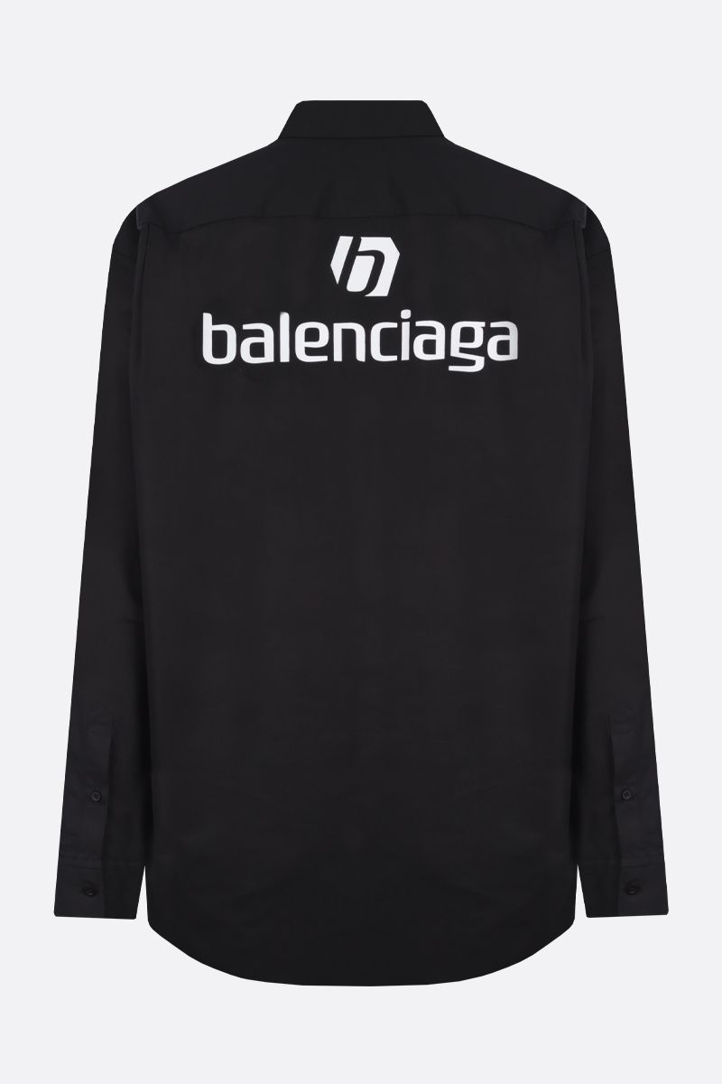 BALENCIAGA: balenciaga print cotton shirt Color Black_2