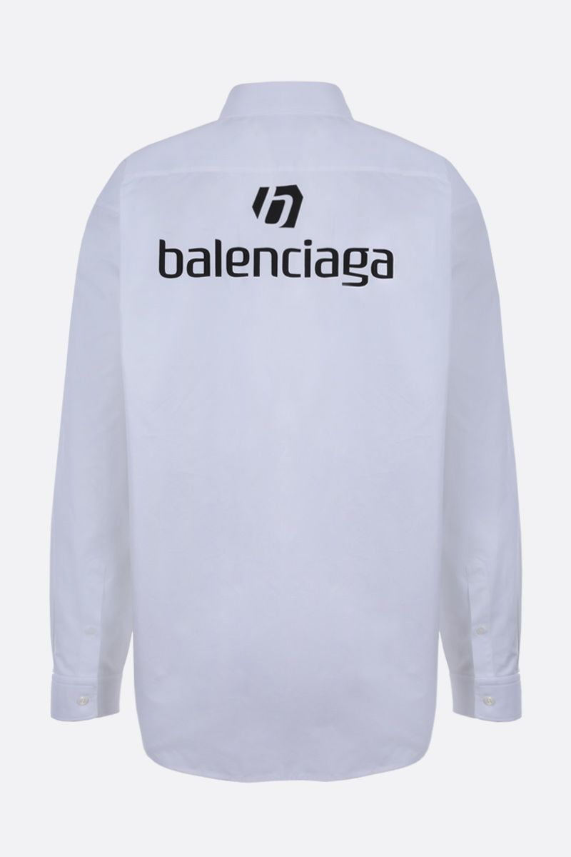 BALENCIAGA: balenciaga print cotton shirt Color Multicolor_2