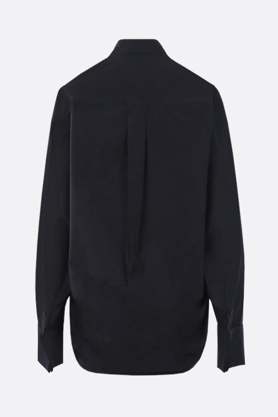 BALENCIAGA: jacquard logo cotton shirt Color Black_2