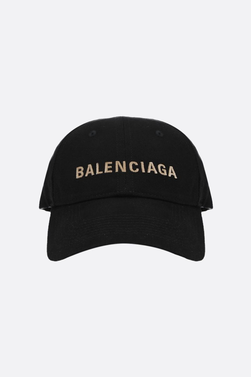 BALENCIAGA: Balenciaga denim baseball cap Color Black_1