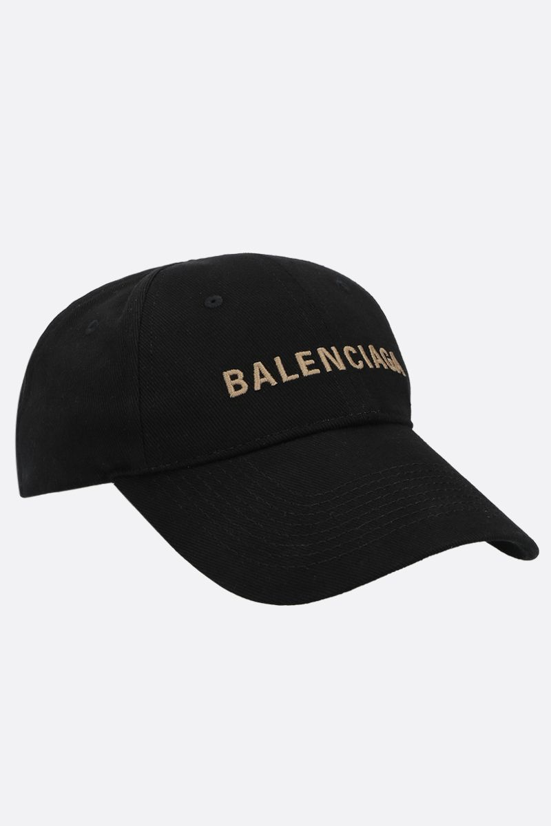 BALENCIAGA: Balenciaga denim baseball cap Color Black_2