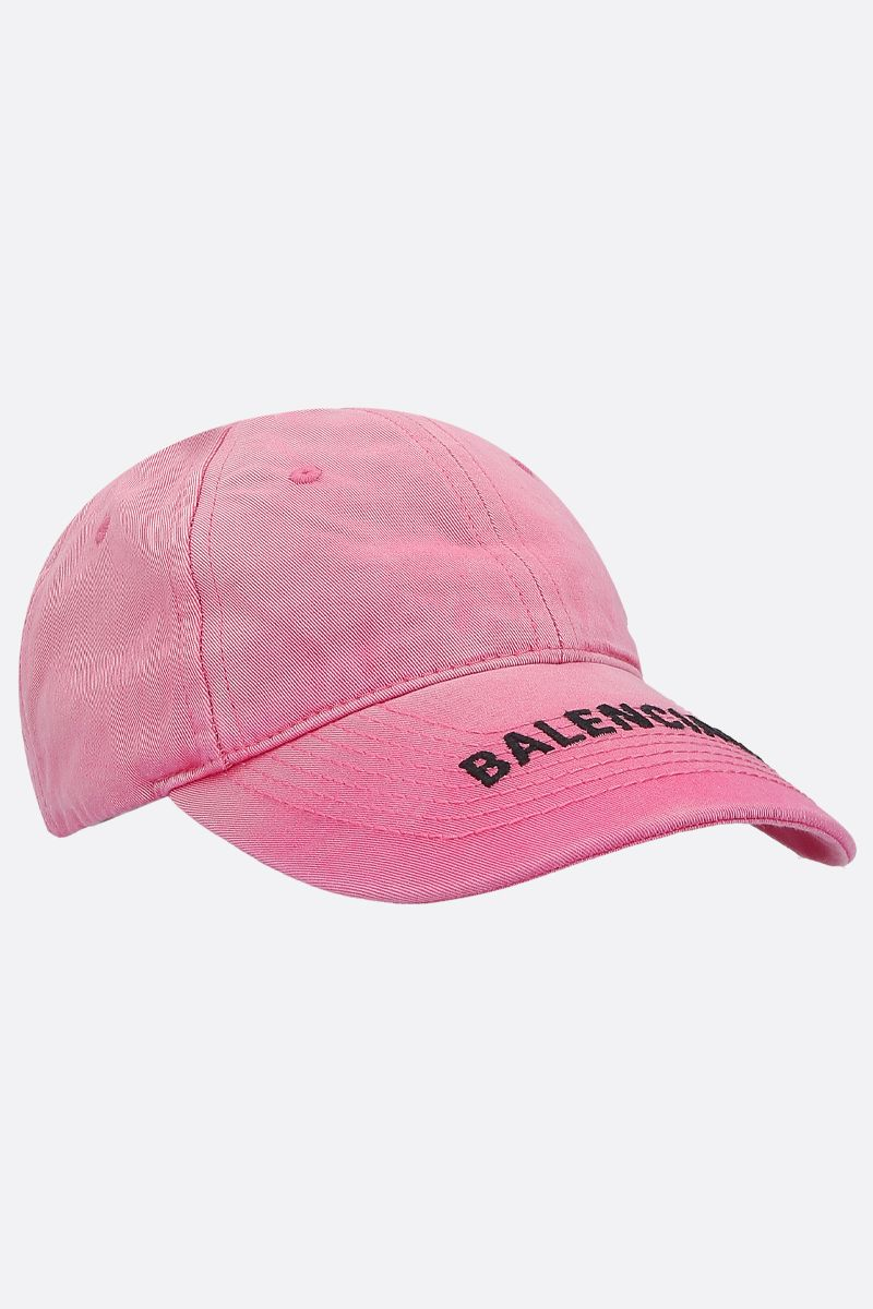 BALENCIAGA: Balenciaga Washed denim baseball cap Color Pink_2