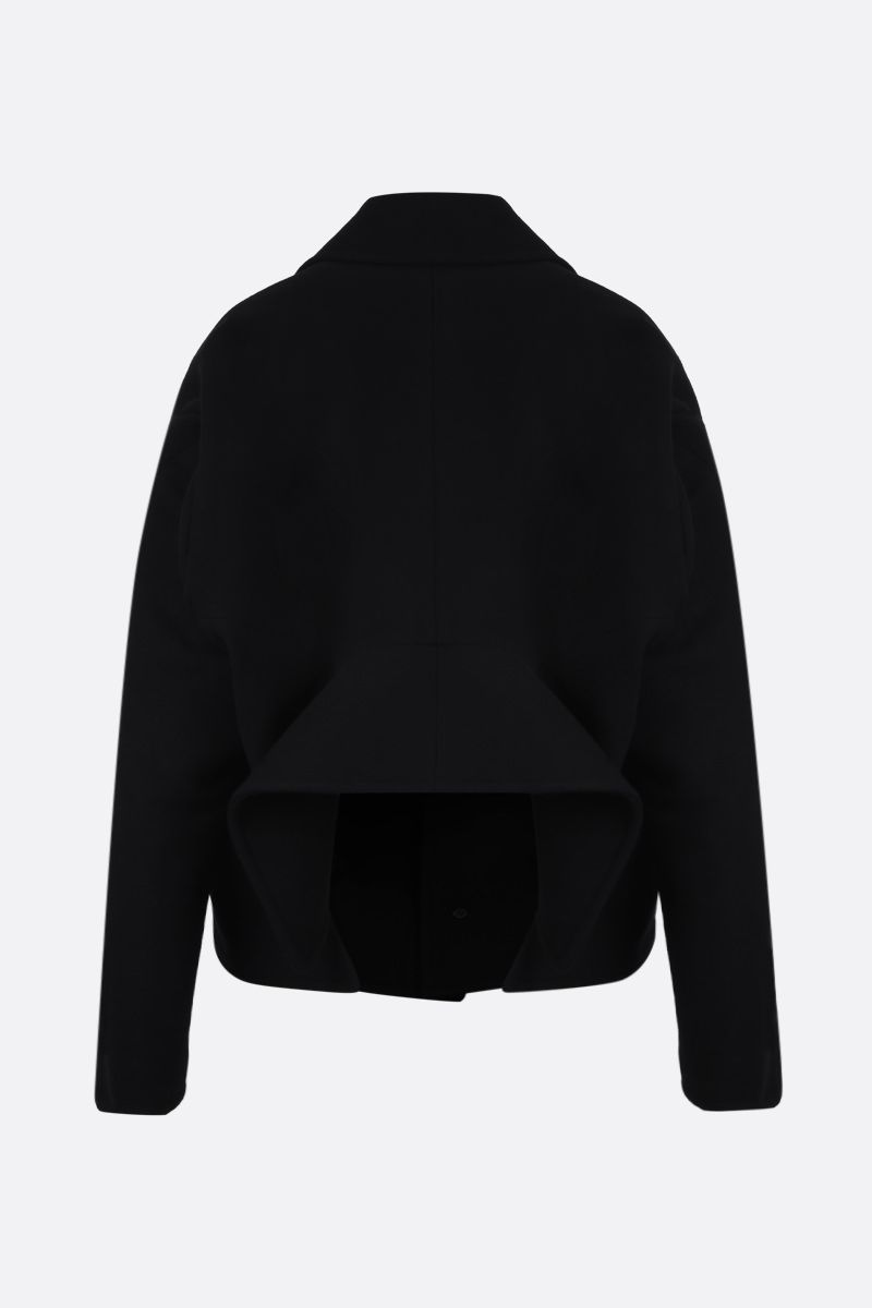 BALENCIAGA: Upside Down wool cashmere blend coat Color Black_2