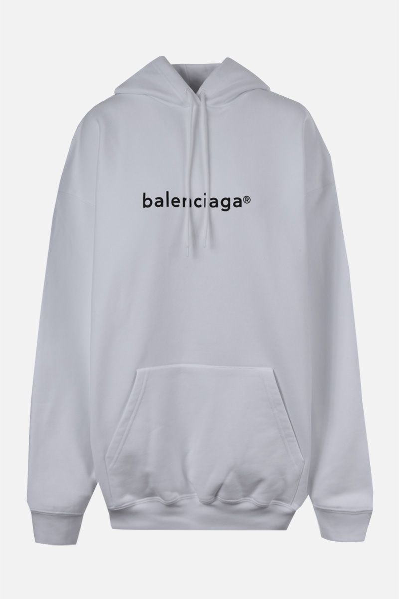 BALENCIAGA: balenciaga® print cotton hoodie Color Black_1