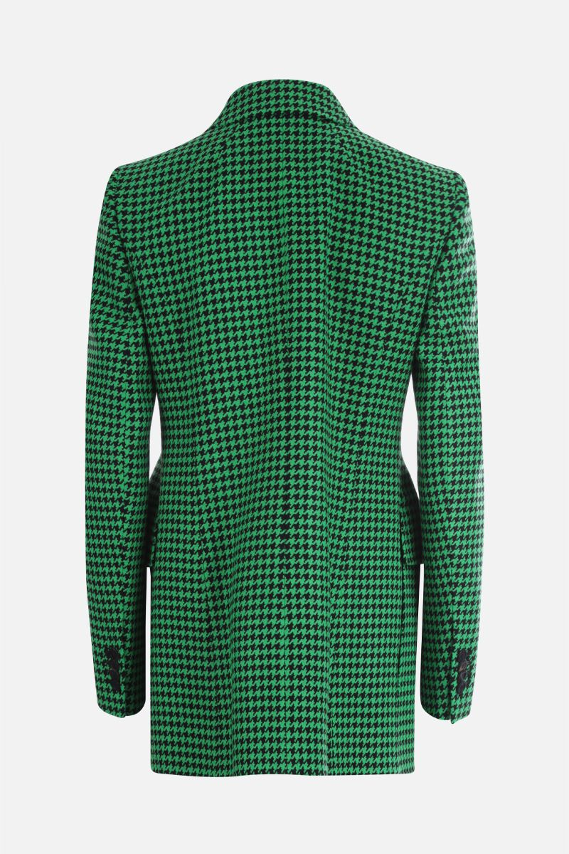 BALENCIAGA: houndstooth wool blend hourglass single-breasted jacket_2