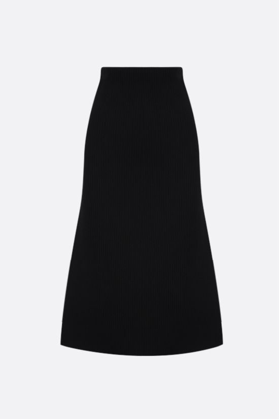 BALENCIAGA: technical wool A-line skirt Color Black_1