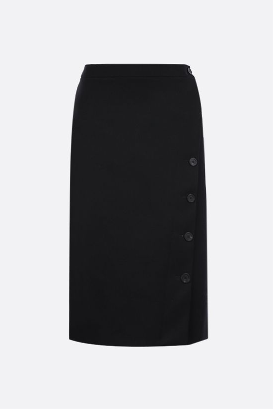 BALENCIAGA: wool gabardine pencil skirt Color Black_1