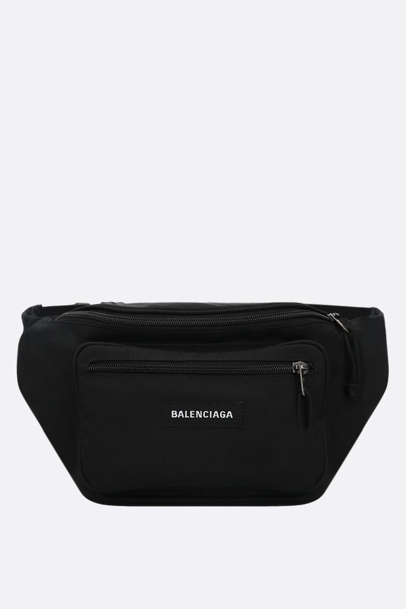 BALENCIAGA: Explorer nylon belt bag Color Black_1