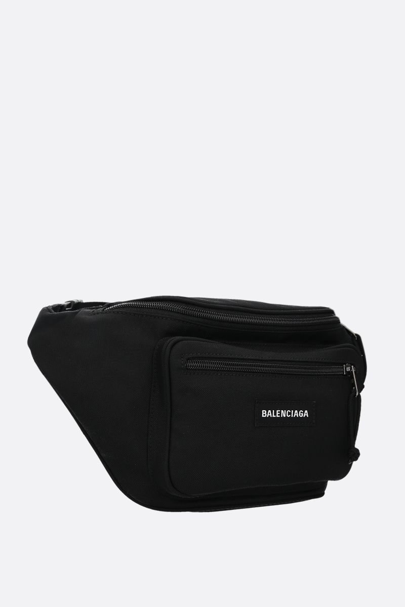 BALENCIAGA: Explorer nylon belt bag Color Black_2