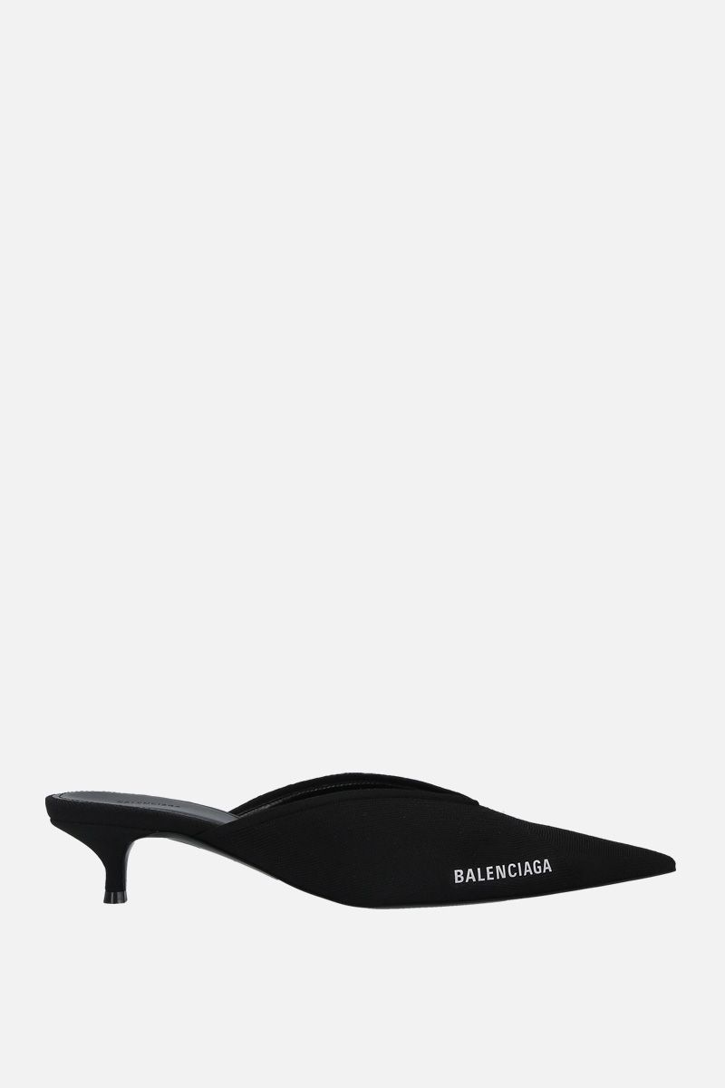 BALENCIAGA: Knife stretch knit mules Color Black_1