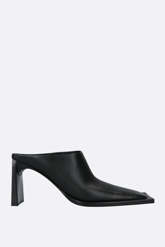 BALENCIAGA: smooth leather mules Color Black_1