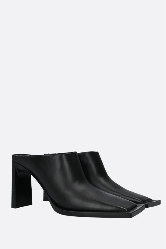 BALENCIAGA: smooth leather mules Color Black_2