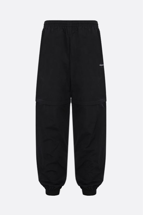 BALENCIAGA: logo print technical fabric joggers Color Black_1