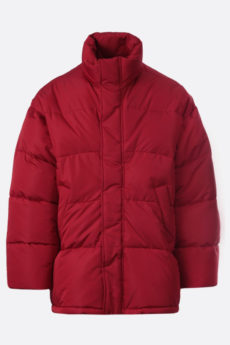 BALENCIAGA: ripstop nylon oversize padded jacket Color Red_1